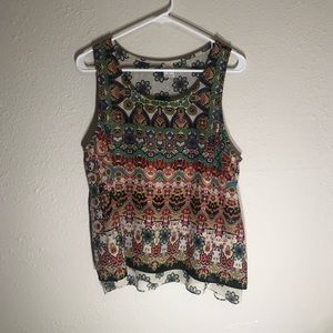 Bila California boho Gypsy racer back tank top